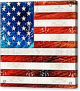 American Flag Art - Old Glory - By Sharon Cummings Acrylic Print