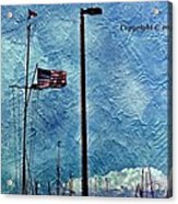 American Flag As A Painting Acrylic Print
