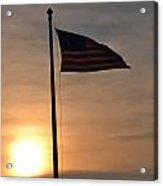 American Flag At Dusk Acrylic Print