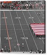 American Flag At Paul Brown Stadium Acrylic Print by Dan Sproul