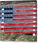 American Flag Country Style Acrylic Print