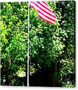 American Flag - Honoring John Acrylic Print by Tap On Photo