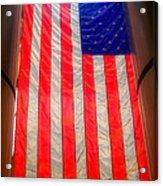 American Flag Acrylic Print by Joann Vitali