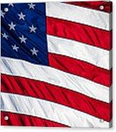 American Flag Acrylic Print by Leslie Banks