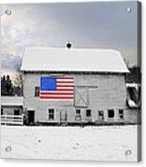 American Flag On A Pennsylvania Barn Acrylic Print