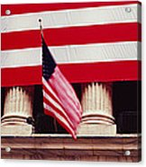 American Flag On The Front Acrylic Print