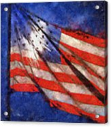 American Flag Photo Art 02 Acrylic Print