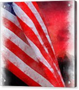 American Flag Photo Art 07 Acrylic Print