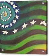 American Flag Reprise Acrylic Print