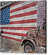 American Flag Route 66 Acrylic Print