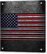 American Flag Stone Texture Acrylic Print