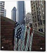 American Flag Tattered Acrylic Print