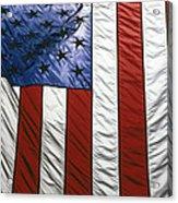 American Flag Acrylic Print by Tony Cordoza