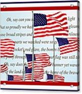 American Flag Tribute  Acrylic Print