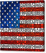 American Flag - Usa Stone Rock'd Art United States Of America Acrylic Print