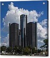 The Detroit Renaissance Center  Acrylic Print