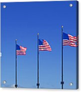 American Flags On Chicago's Famous Navy Pier Acrylic Print