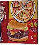 American Food Pop Art Acrylic Print