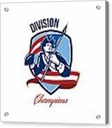 American Football Division Champions Shield Retro Acrylic Print