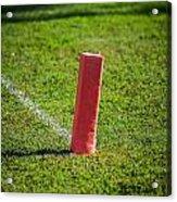 American Football Field Marker Acrylic Print