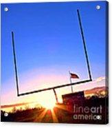 American Football Goal Posts Acrylic Print