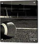 American Football On Field Acrylic Print