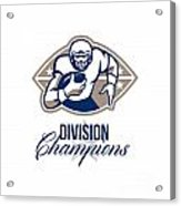 American Football Runningback Division Champions Acrylic Print by Aloysius Patrimonio
