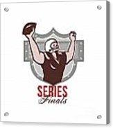 American Football Series Finals Retro Acrylic Print