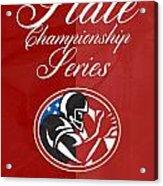American Football State Championship Series Poster Acrylic Print