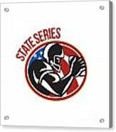 American Football State Series Ball Acrylic Print by Aloysius Patrimonio