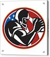 American Football Wide Receiver Ball Acrylic Print by Aloysius Patrimonio