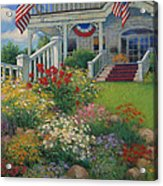 American Garden Acrylic Print by Sharon Will