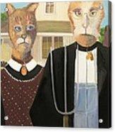 American Gothic Cat Acrylic Print