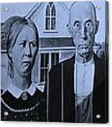 American Gothic In Colors Acrylic Print