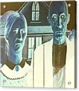 American Gothic In Negative Acrylic Print
