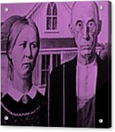 American Gothic In Pink Acrylic Print