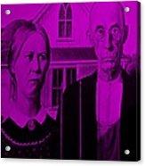 American Gothic In Purple Acrylic Print