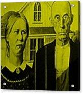 American Gothic In Yellow Acrylic Print
