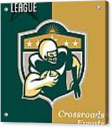 American Gridiron All Star League Poster Acrylic Print by Aloysius Patrimonio