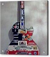 American Guitar Acrylic Print