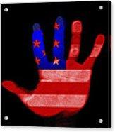 American Hand Acrylic Print