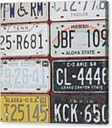 American License Plates Acrylic Print