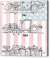 American Made Corvette Patent Acrylic Print