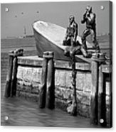 American Merchant Mariners Memorial Acrylic Print by Mike McGlothlen