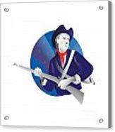 American Minuteman Revolutionary Soldier Acrylic Print