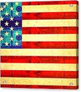 American Money Flag Acrylic Print