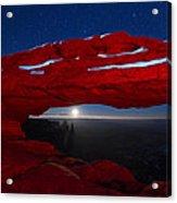 American Moonrise Acrylic Print