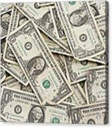 American One Dollar Bills Acrylic Print