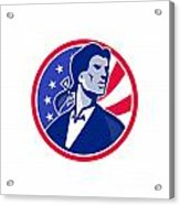 American Patriot Minuteman Stars Stripes Flag Acrylic Print