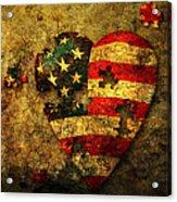 American Puzzle Acrylic Print